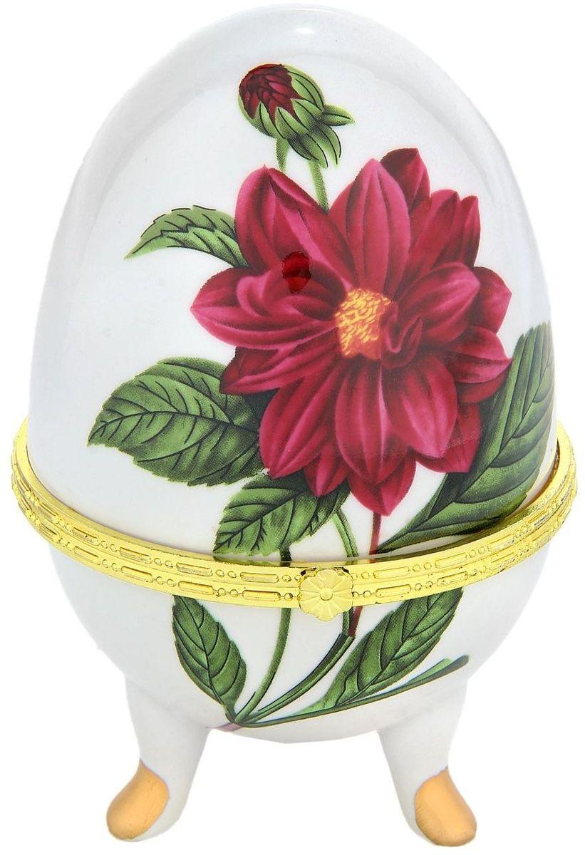 Шкатулка Sima-land Георгин, 10 х 10 х 15,5 см свеча ароматизированная sima land лимон на подставке высота 6 см