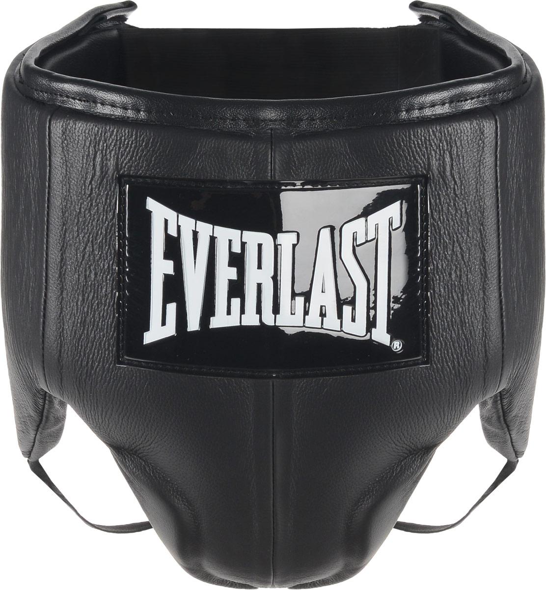 Защита паха мужская Everlast Velcro Top Pro, цвет: черный, белый. Размер XXL440801UEverlast Velcro Top Pro это удобный обтягивающий бандаж, идеально подходящий как для тренировочных спаррингов, так и для боя на ринге. Бандаж изготовлен из высококачественной натуральной кожи, а подкладка набита пенным наполнителем высокой плотности, благодаря чему достигается превосходная амортизация ударов. Усовершенствованный облегченный дизайн обеспечивает максимальную подвижность и комфорт, в то же время гарантируя безопасность и полную защиту паха и тазовой области. Удобные застежки на липучке позволят подогнать защиту под ваш размер и плотно зафиксировать ее на теле. Максимальный обхват: 121 см.Минимальный обхват: 108 см.