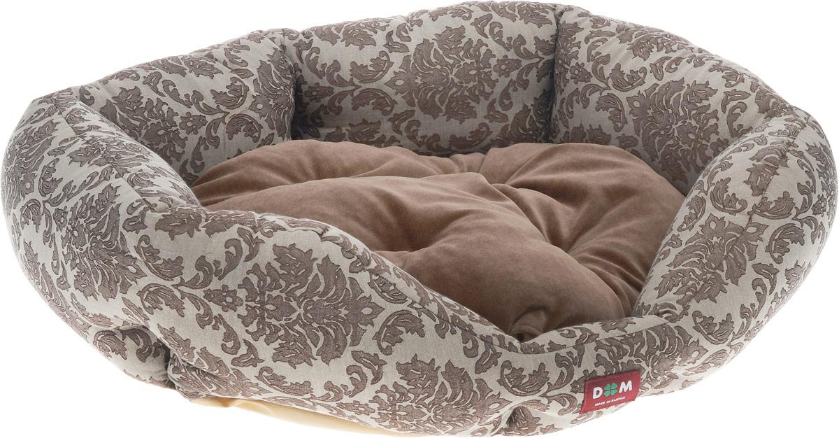 Лежак для животных Dogmoda Ампир, 67 x 58 x 22 смDM-160267-3Лежак для животных Dogmoda Ампир прекрасно подойдет для отдыха вашего домашнего питомца. Изделие выполнено из прочной ткани и снабжено высокими широкими бортиками и съемной мягкой подушкой. Наполнен лежак холлофайбером.Комфортный и уютный лежак обязательно понравится вашему питомцу, животное сможет там отдохнуть и выспаться.