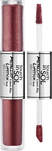 Touch In Sol Metallist Liquid Foil Двойная жидкая помада для губ, 2.5мл, №5 Jasmine - Декоративная косметика