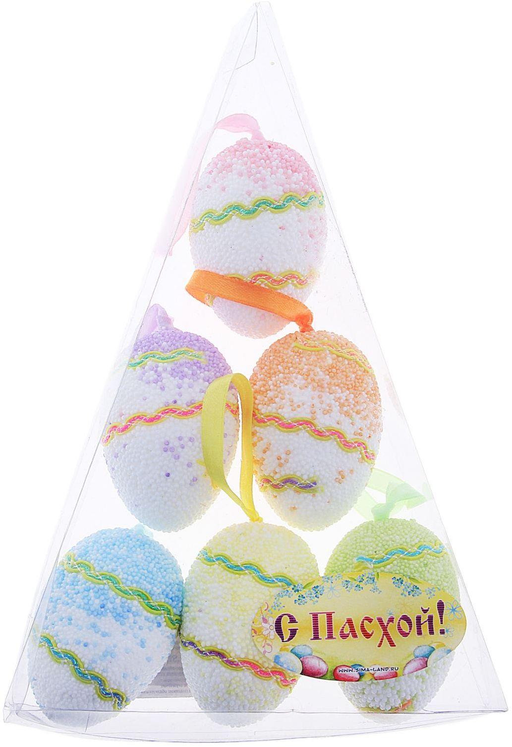 Сувенир пасхальный Sima-land Яйцо. Ассорти, 4 х 4 х 6 см, 6 шт