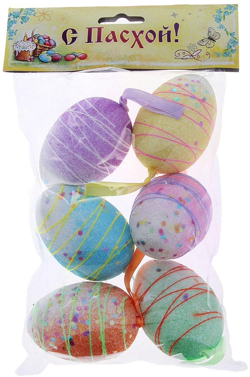 Сувенир пасхальный Sima-land Яйцо. Серпантин, 6 шт кармашки на стену для бани sima land банные мелочи цвет белый 3 шт