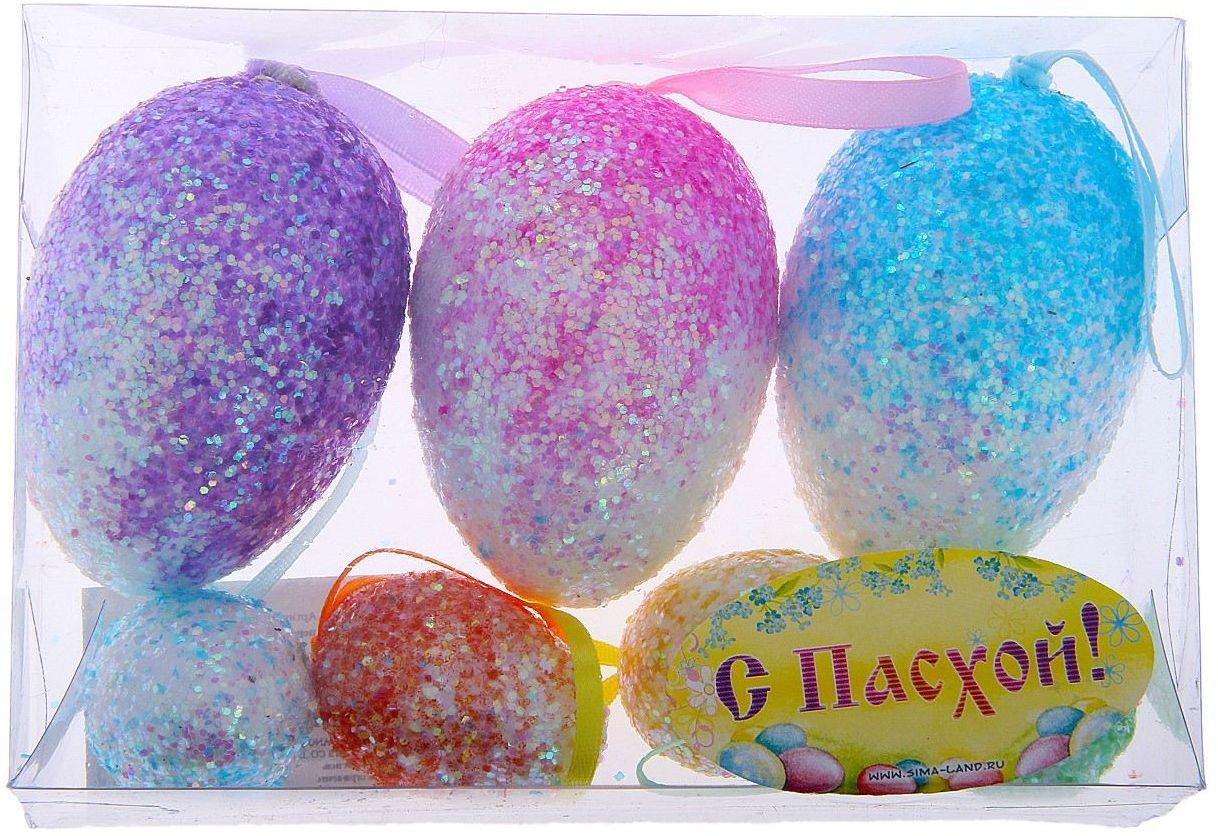 Сувенир пасхальный Sima-land Яйцо. Перелив, 7 шт114832Яйцо - это главный пасхальный символ, который символизирует для христиан новую жизнь и возрождение, поэтому его присутствие на праздничном столе является обязательным элементом во многих странах.Сегодня крашеными яйцами принято не только украшать праздничный стол. Если вы решили серьёзно подойти к декору квартиры, и вам нужно, например, подвесить яйца, закрепить на веточках, в этом вам поможет сувенир - пасхальное яйцо Перелив (набор 7 шт) - очаровательный символ, который покорит сердце каждого. Можете уложить эти чудесные яйца в плетёную корзинку, на красивую салфетку, и перед вами уже готовый подарок или композиция для сервировки стола. Приобретая такой сувенир, вы сэкономите кучу времени на росписи яиц, оставив его на выпечку самого вкусного кулича.