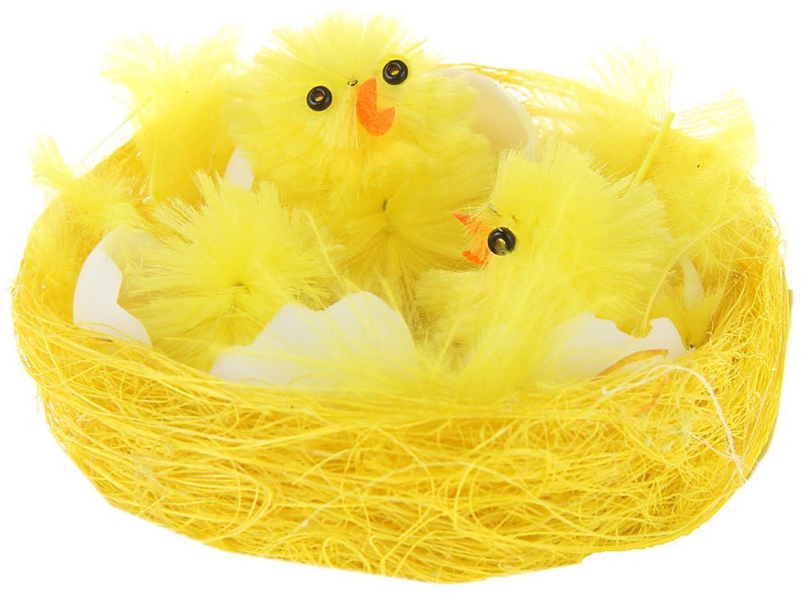 Сувенир пасхальный Sima-land Цыплята в скорлупе, 5,5 х 5,5 х 3 см набор пасхальных подвесок sima land зайчик в скорлупе 6 см 3 шт