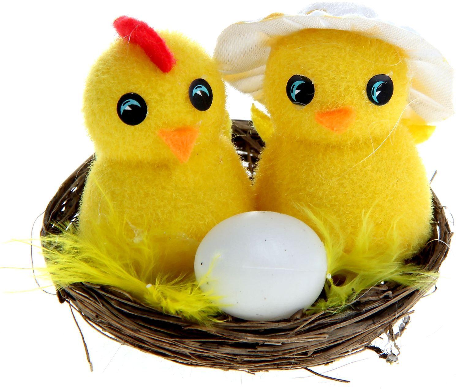 Сувенир пасхальный Sima-land Парочка в шляпке с яйцом, 7 х 7 х 5,5 см стол кремона 7