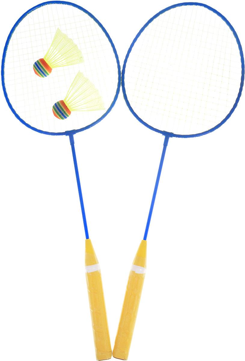 ABtoys Игровой набор Бадминтон цвет синий желтый red double happiness dhs бадминтон n401 тренировочный класс бадминтон 12 загружен