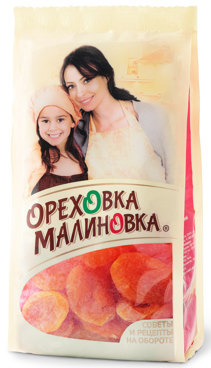 Ореховка-Малиновка абрикосысушеные, 190 г4620000679394Сладкие целые абрикосы можно использовать как полезный и вкусный перекус в течение рабочего дня. Плоды абрикоса повышают гемоглобин в крови, что способствует увеличению сопротивляемости организма. Особенно полезны они при авитаминозах, заболеваниях сердечно-сосудистой системы, почек, ожирении. А также помогают улучшить память и повышают мозговую активность, что бесспорно очень важно для людей, занимающихся интеллектуальным трудом, школьникам и студентам.