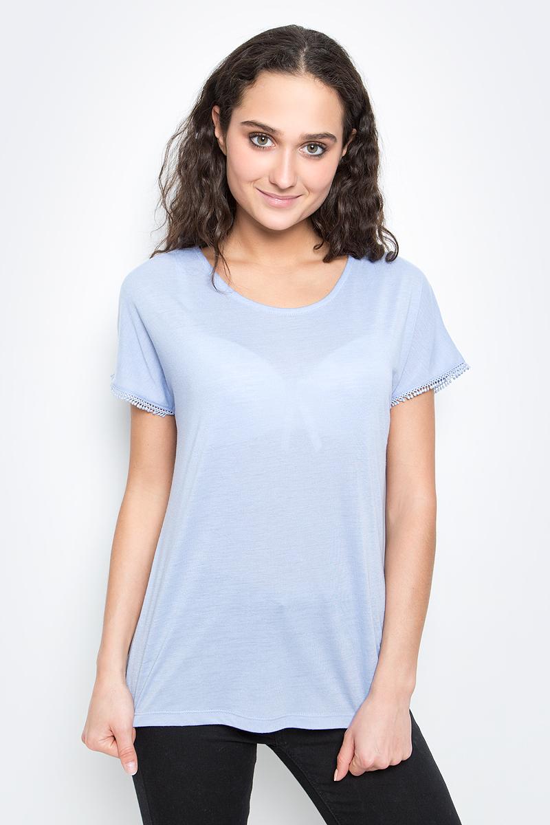 Футболка женская Baon, цвет: бледно-голубой. B237039_Myosotis. Размер XL (50)