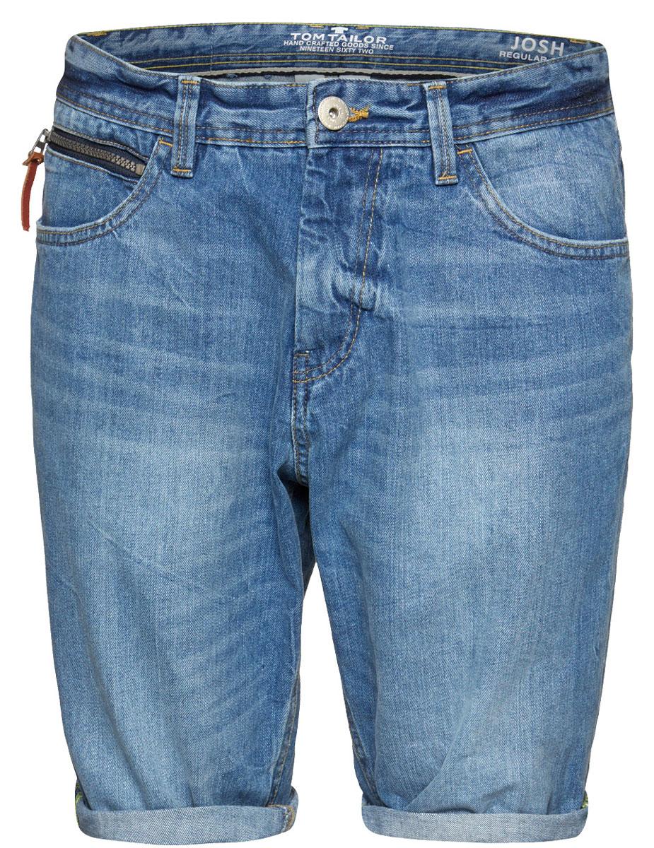 Шорты мужские Tom Tailor, цвет: синий. 6205181.00.10_1051. Размер 30 (46)6205181.00.10_1051Стильные мужские шорты Tom Tailor изготовлены из высококачественного натурального хлопка, не сковывают движения и дарят комфорт.Шорты на талии застегиваются на металлическую пуговицу и ширинку на молнии, а также имеют в поясе шлевки для ремня. Спереди модель дополнена двумя втачными карманами и одним маленьким кармашком на молнии, а сзади - двумя большими накладными карманами. Изделие оформленоперманентными складками. Эти модные и в тоже время удобные шорты помогут вам создать оригинальный современный образ.