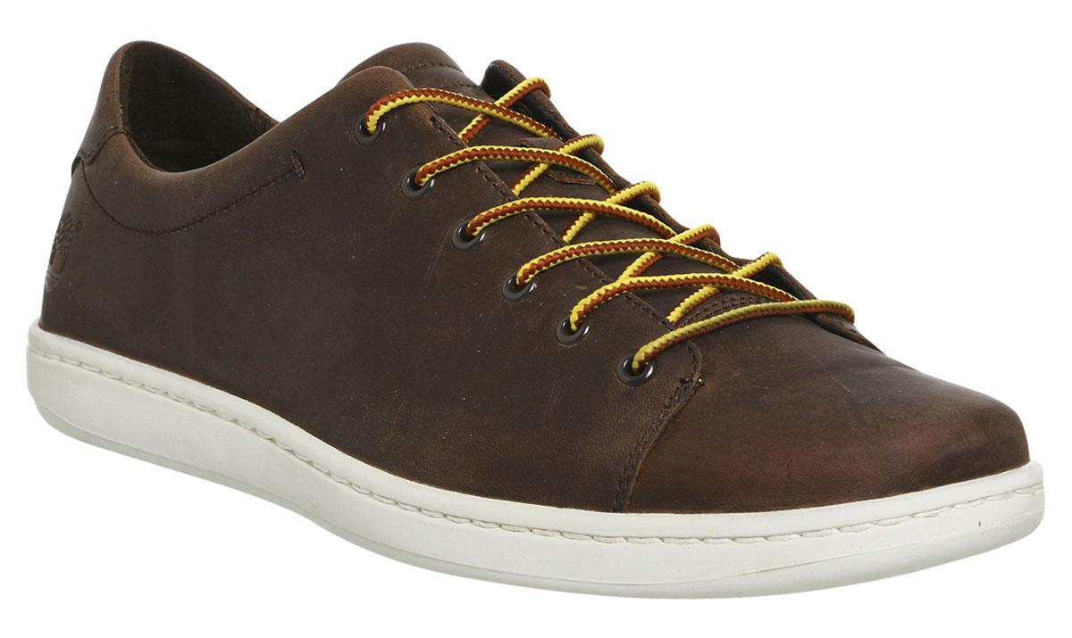 Купить Кеды мужские Timberland Courtside Leather Oxford, цвет: темно-коричневый. TBLA1GJDM. Размер 9 (42)