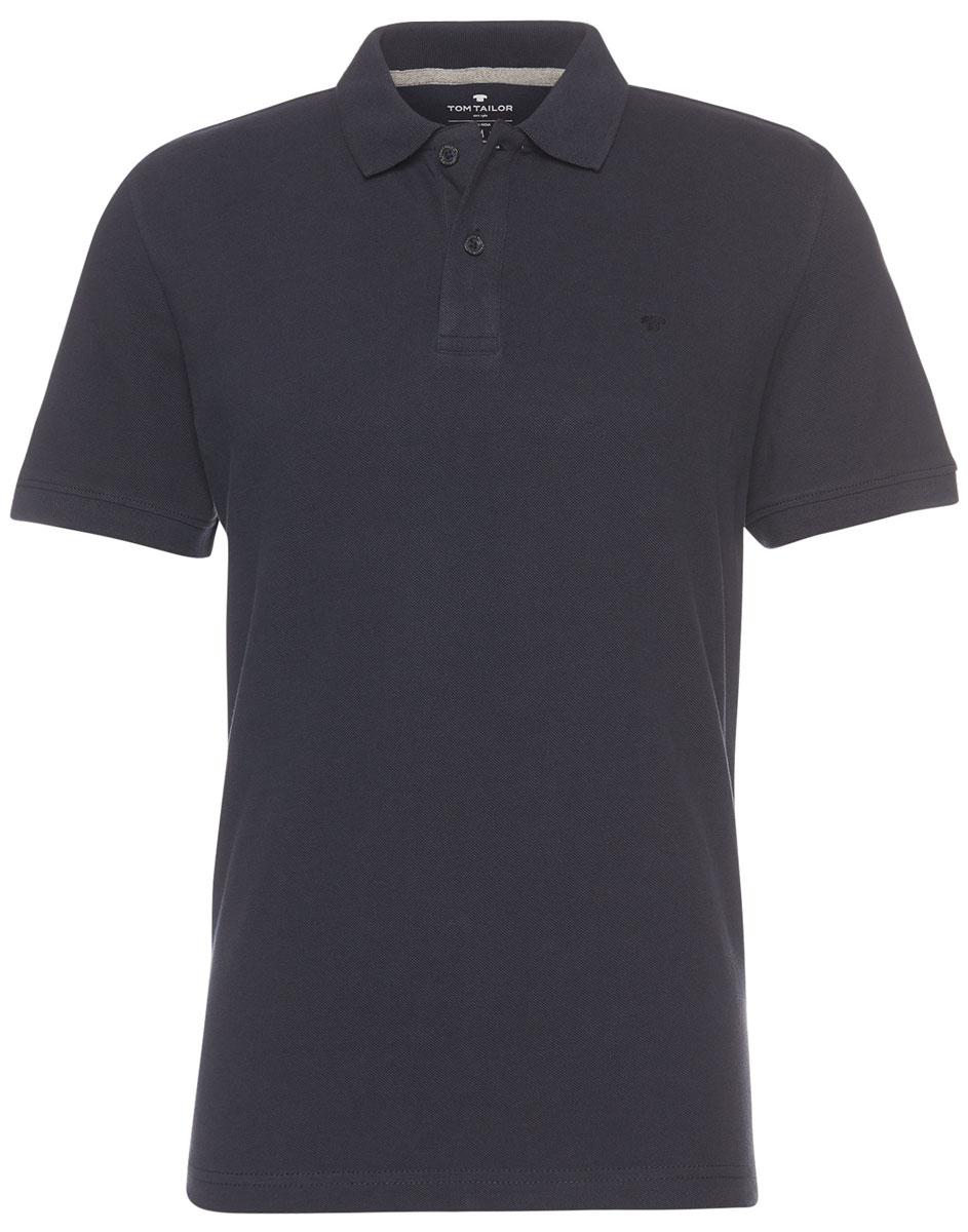 Поло мужское Tom Tailor, цвет: черный. 1531007.09.10_6800. Размер XL (52)1531007.09.10_6800Мужская футболка-поло Tom Tailor поможет создать отличный современный образ. Модель изготовлена из хлопка. Футболка-поло с короткими рукавами застегивается сверху на две пуговицы. Такая футболка станет стильным дополнением к вашему гардеробу, она подарит вам комфорт в течение всего дня!