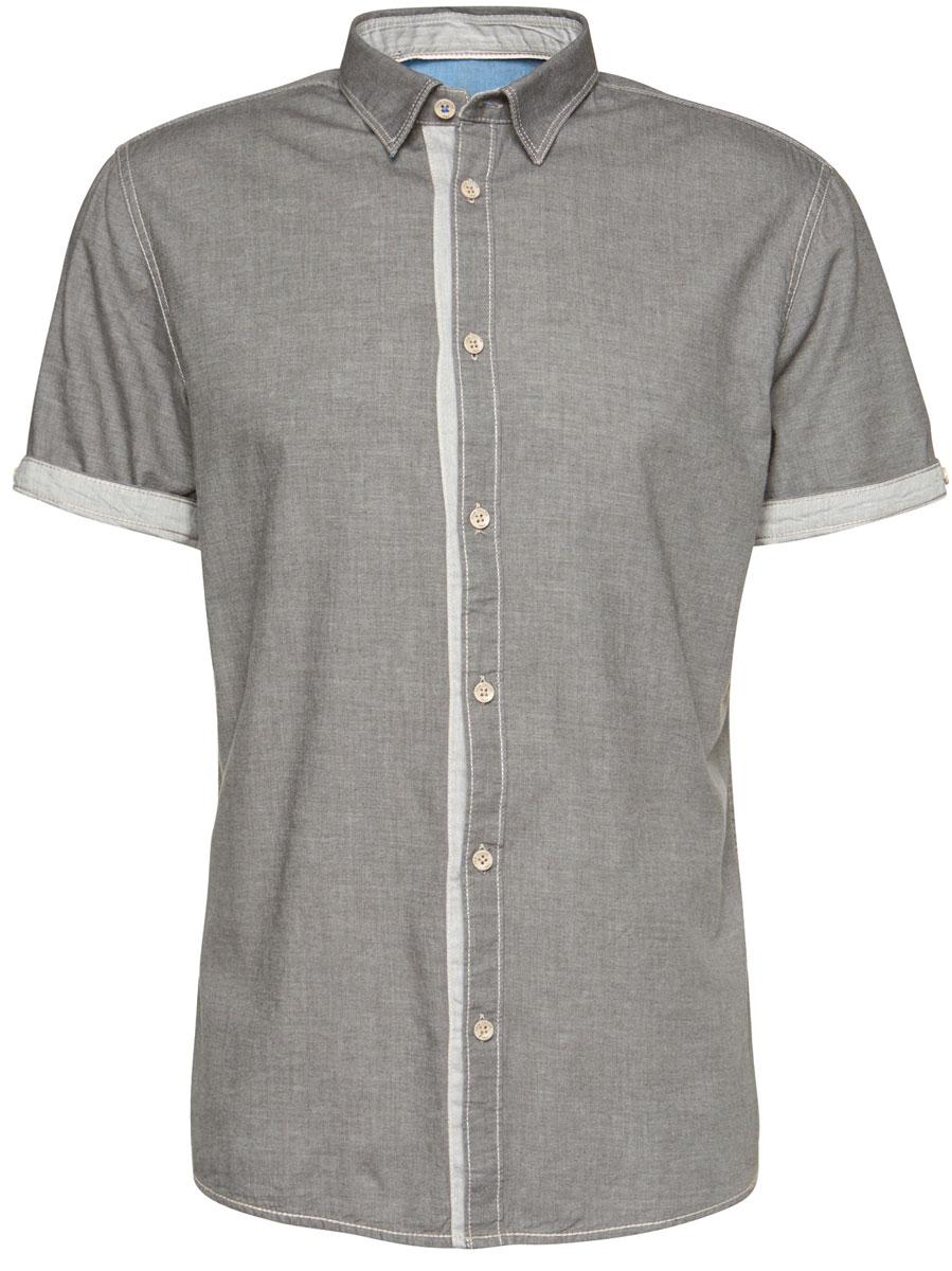Рубашка мужская Tom Tailor, цвет: серый. 2032825.99.10_2983. Размер XXL (54) рубашка мужская levi s® цвет синий красный белый 6581602170 размер xxl 54