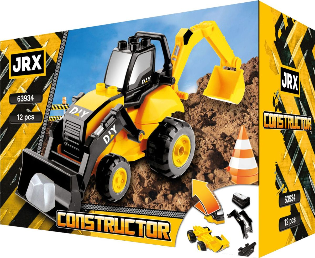 JRX construction Конструктор Бульдозер с фигурками