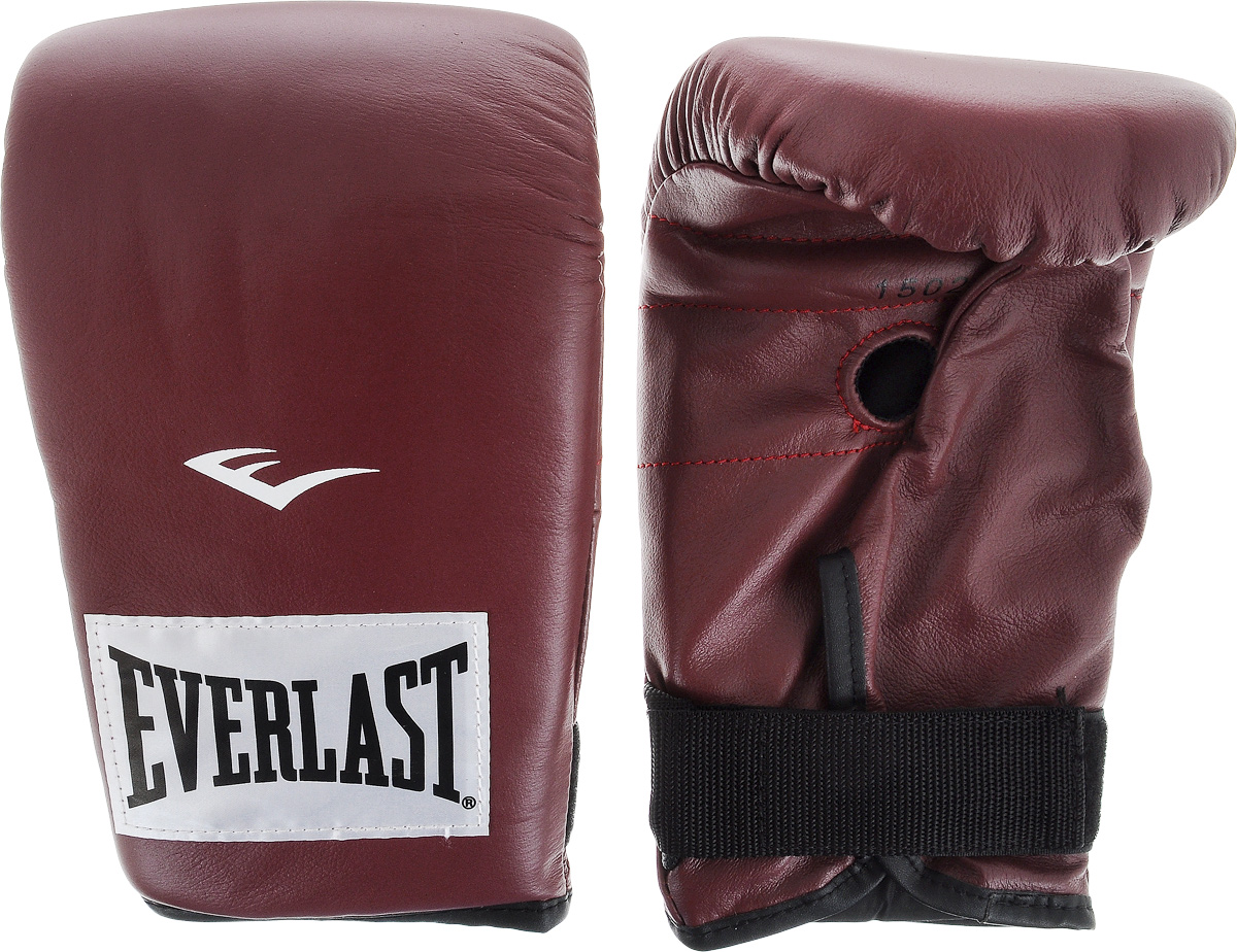 Перчатки снарядные Everlast, профессиональные, цвет: бордовый, белый. Размер XL310995Пара снарядных перчаток Everlast для работы на тяжелых мешках выполнена из натуральной кожи высшего качества и оснащена удобной застежкой. Плотный пенный наполнитель и вес идеален для разминок с мешком. Хлопковый лайнер обеспечивает комфорт руки внутри перчатки.