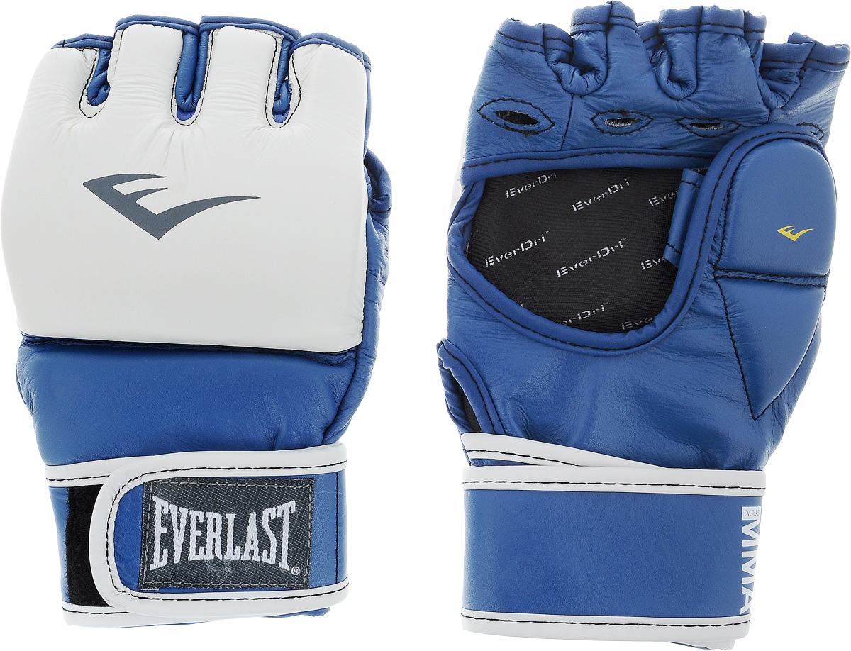Перчатки тренировочные Everlast MMA Grappling, цвет: синий, белый. Размер L/XL перчатки тренировочные everlast mma grappling цвет синий белый размер l xl