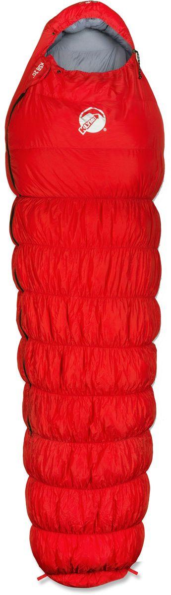 Спальный мешок Klymit KSB 20°, цвет: красный, правосторонняя молния13KBRD01CТуристический спальный мешок для экстремальных походов, альпинизма, экспедиций и восхождений лайт-туристов. Особенности:Температура комфорта: -7°С (3 сезона). Материал подкладки: нейлон 20D. Утеплитель: утиный пух. Размер: 214,6 x 80 x 55,1 см. Размер в сложенном виде: 33 х 21,6 см. Вес: 1,25 кг.