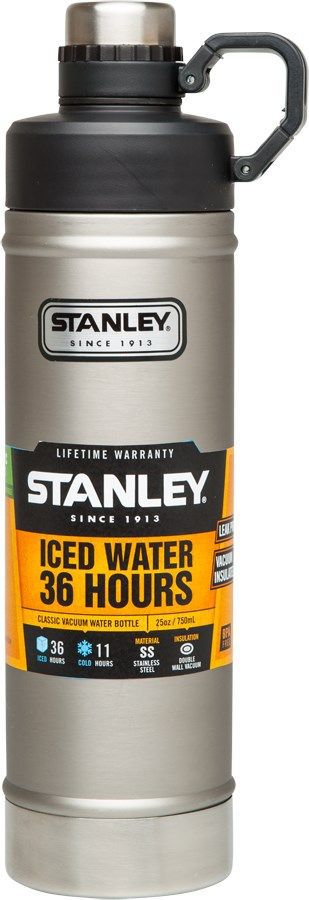 Термобутылка Stanley Classic, цвет: стальной, 0,75 л