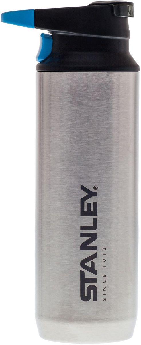 Термокружка Stanley Mountain,с карабином, цвет: стальной, 470 мл10-02285-003Термокружка Stanley Mountain, выполненная из нержавеющей стали, прекрасно подойдет для путешествий, походов и даже для поездки в автомобиле. Она сохраняет тепло 7 часов, холод - 9 часов, напитки со льдом - 36 часов. Дополнительная пластиковая крышка для отверстия для питья препятствует образованию пыли. Ее легко открывать и закрывать нажатием на кнопку одной рукой.Термокружка оснащена удобной ручкой, за которую ее можно закрепить на рюкзаке или повесить в палатке с помощью карабина.Подходит для мытья в посудомоечной машине.