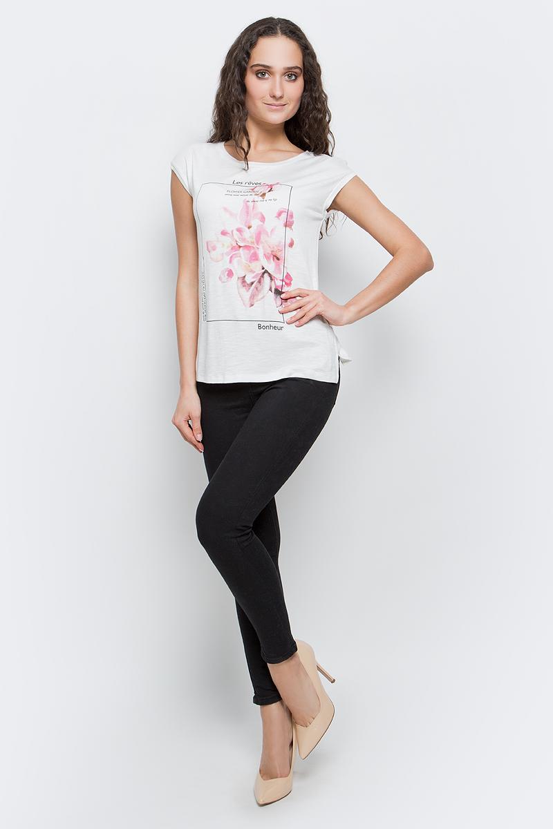 Футболка женская Baon, цвет: белый. B237029_Milk. Размер XL (50) футболка женская baon цвет белый b237081 white размер xl 50
