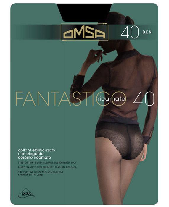 Колготки классические Omsa Fantastico 40. Nero (черные). Размер 4 чулки omsa malizia размер 4 плотность 20 den caramello