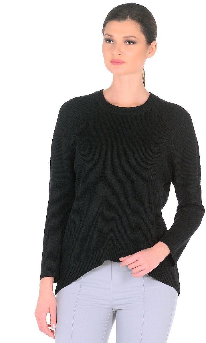 Джемпер женский Pettli Collection, цвет: черный. 16756. Размер 46/48 джемпер pettli collection pettli collection pe034ewvvz24
