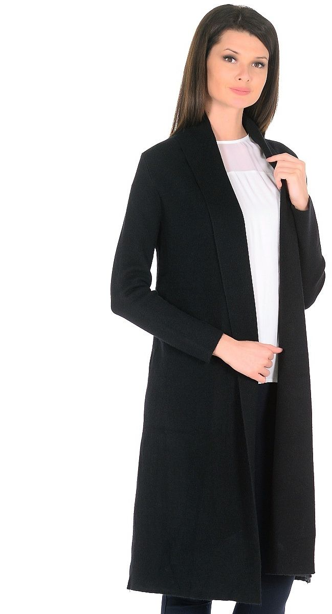 Кардиган женский Pettli Collection, цвет: черный. 639. Размер 44 кардиган pettli collection pettli collection pe034ewyos30