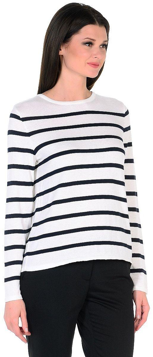 Джемпер женский Pettli Collection, цвет: белый, черный. 1490. Размер 52 кардиган pettli collection pettli collection pe034ewvvz19