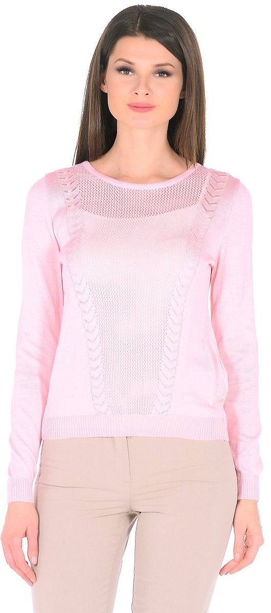Джемпер женский Pettli Collection, цвет: розовый. 1438. Размер 52 джемпер pettli collection pettli collection pe034ewvvz24