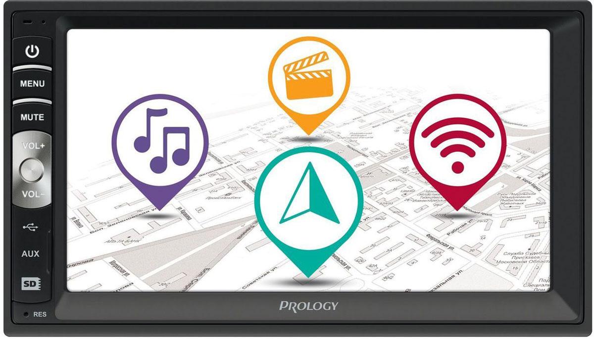 Prology MPC-50, Black автомагнитола4607940900399Мультимедийный центр Prology MPC-50 с пользовательским интерфейсом построенном на операционной системе Android 4.4.4.Полноценно поддерживается работа с Google Play. Встроенный Wi-Fi модуль. Имеется возможность подключения 3G-модема.Встроенный Bluetooth-модуль работает в режимах hands-free и высококачественной передачи потокового аудио.Модуль GPS навигации обеспечивает работу c предустановленным лицензионным навигационным ПО Навител Навигатор, не требующим дополнительной покупки карт, в комплект уже входят карты России и еще 11 стран, всего 370000 населенных пунктов, в том числе больше 30000 – с HD-картографией.Поддерживается подключение штатных кнопок управления аудиосистемой на руле (интерфейс SWC).