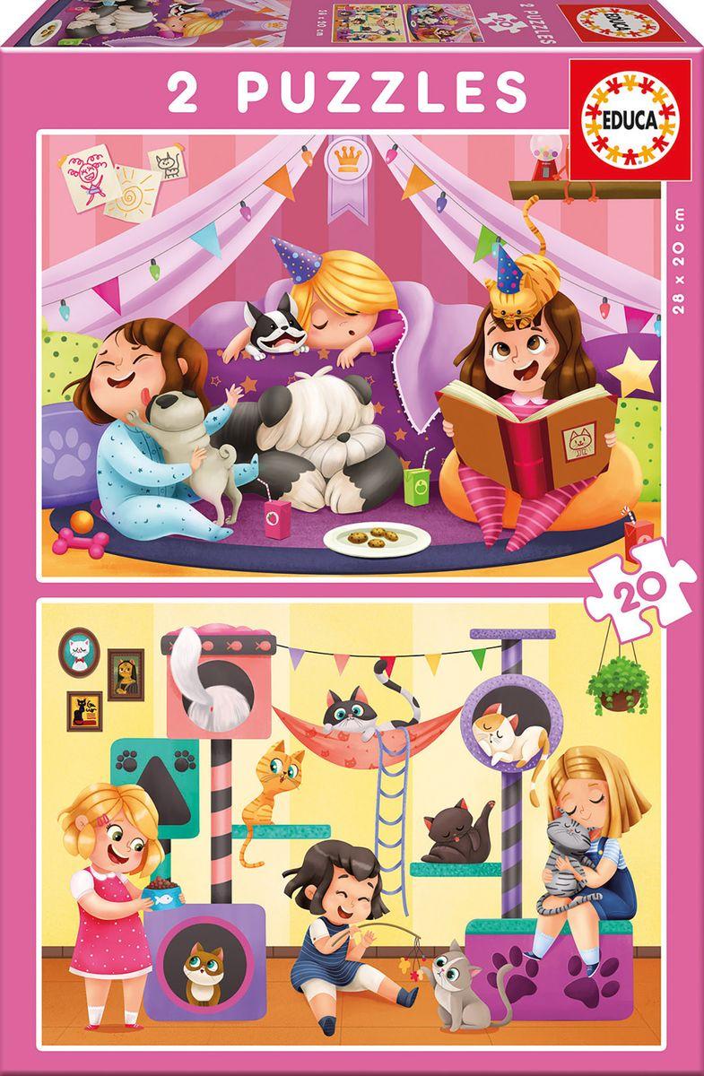 Educa Пазл для малышей Пижамная вечеринка 2 в 1 лагуна блю пижамная вечеринка дёшево