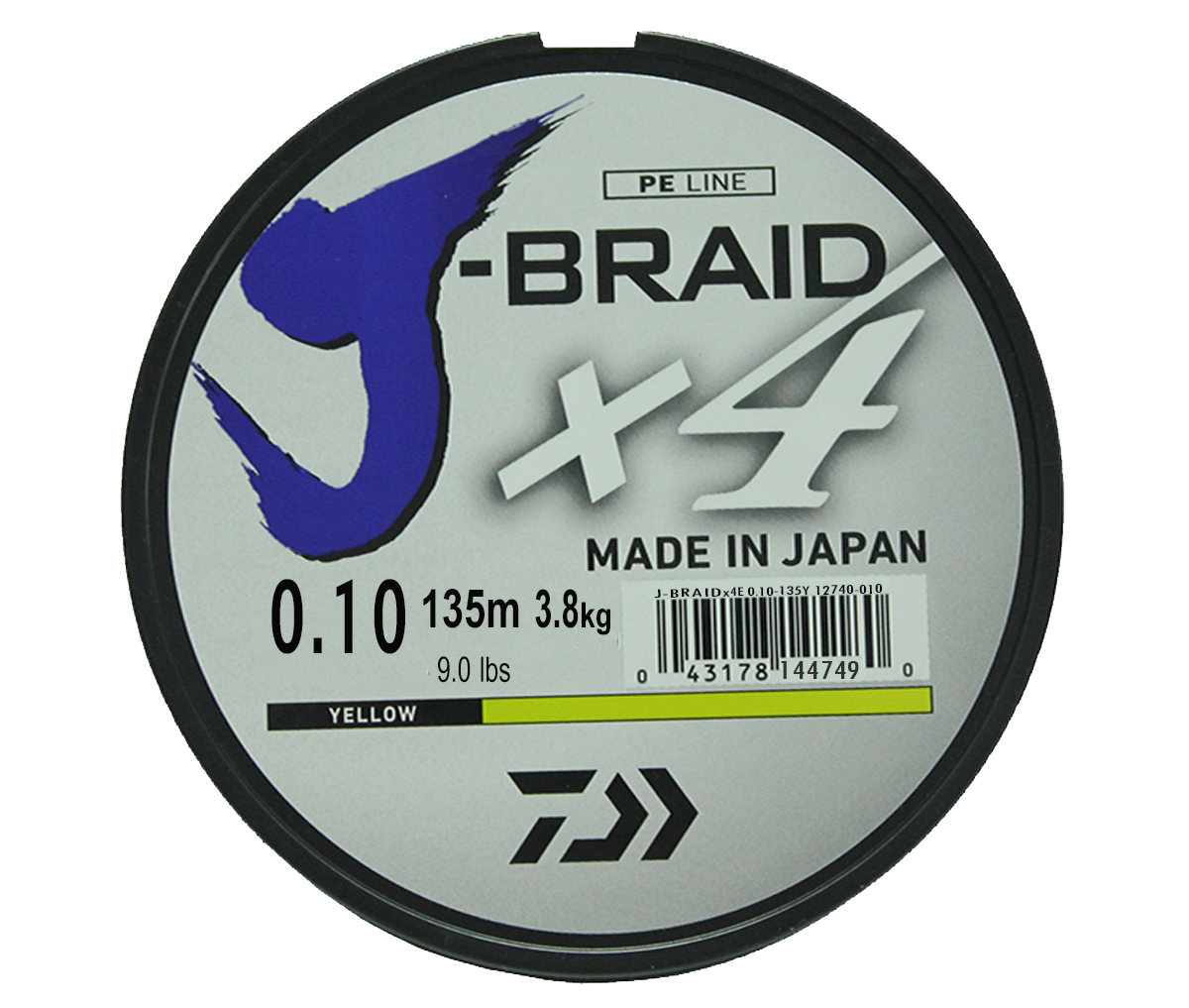 Шнур плетеный Daiwa J-Braid X4, цвет:флуоресцентный желтый, 135 м, 0,10 мм61136Новый 4х жильный шнур J-Braid, DAIWA - шнур высокого класса с удивительным соотношением цены и качества. Качество плетения полностьюсоответствует японским стандартам и удовлетворяет всем требованиям. Представленные диаметры позволяют использовать шнур для всех техникловли, начиная от ultra- light ловли окуня, до морской ловли палтуса, трески и т.д