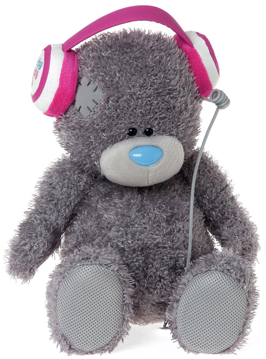 Me to You Мягкая игрушка Мишка Тедди в наушниках 34 см мягкая игрушка брелок me to you мишка тедди 7 5 см