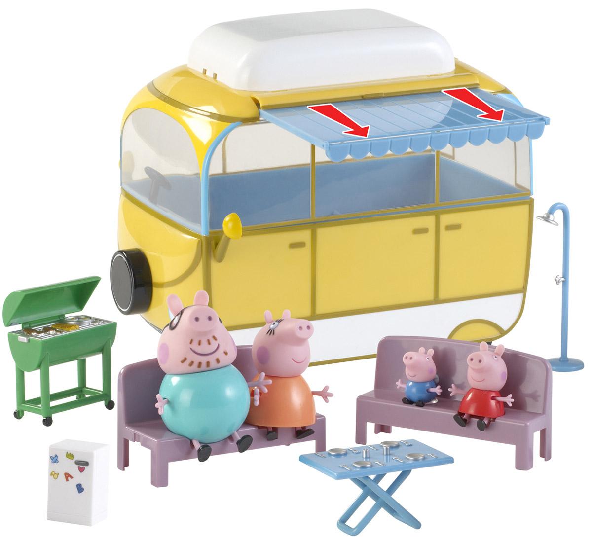 Peppa Pig Игровой набор Кемпинг Пеппы игровой набор peppa pig семья пеппы папа свин и джорж 2 предмета от 3 лет 20837