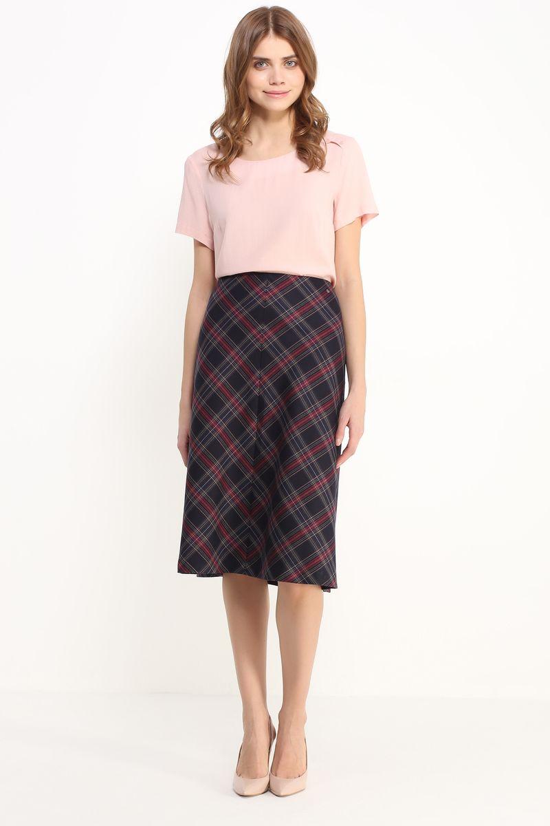 Блузка женская Finn Flare, цвет: светло-розовый. B17-11052. Размер L (48) блузка женская finn flare цвет лиловый синий бежевый s16 14085 814 размер m l 46 48