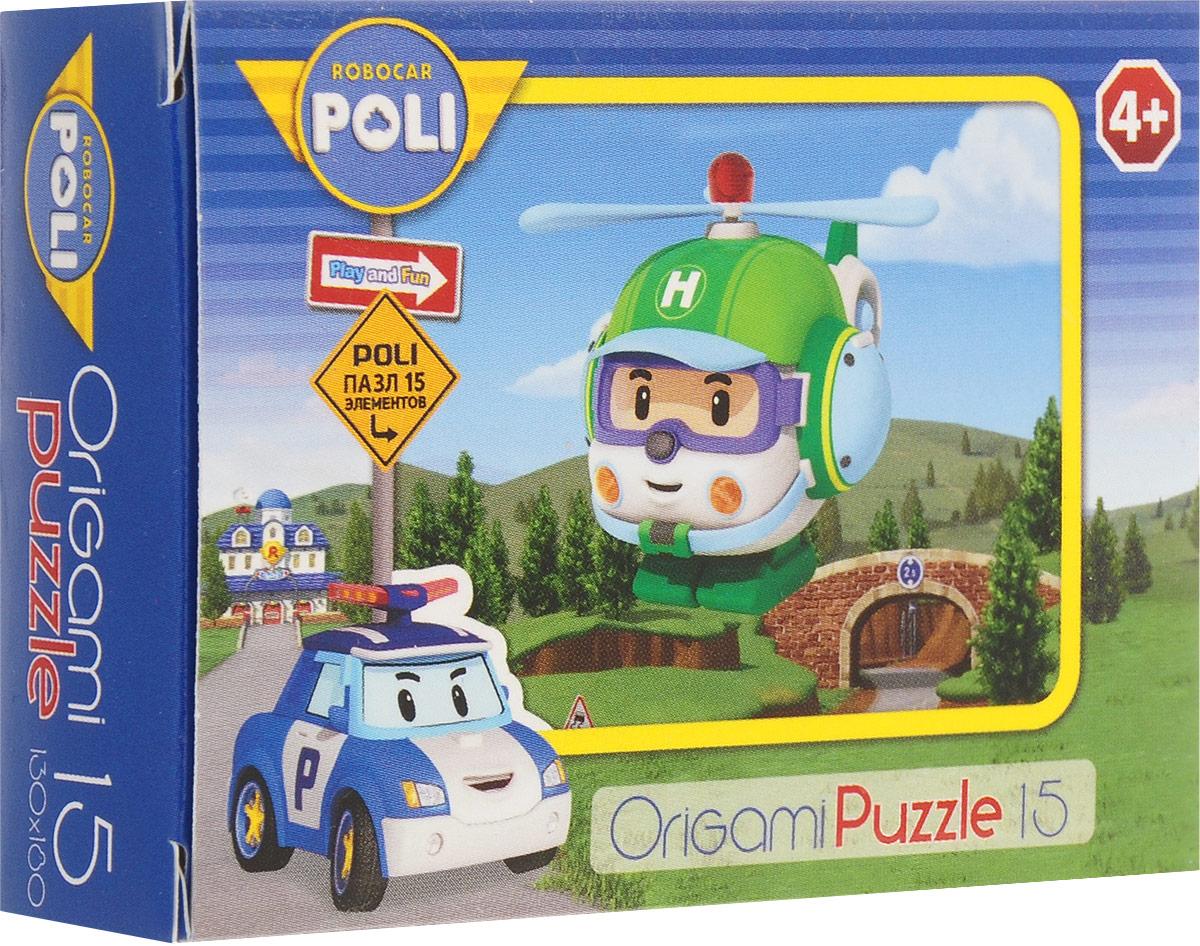 Оригами Мини-пазл Robocar Poli Вертолет Хэлли пазл origami 00171 robocar 36эл