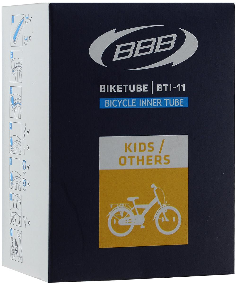 Камера велосипедная BBB, с автониппелем, диаметр колеса 16BTI-11Камера BBB выполнена из резины и предназначена для колеса шоссейного велосипеда.Толщина стенок составляет 0.87 мм, что является золотой серединой в защите от проколов и минимальным весом.Диаметр колеса: 16 (41 см). Допустимый размер сечения покрышки: 47/57C. Ниппель: Schrader (33 мм)..Уважаемые клиенты!Обращаем ваше внимание на возможные изменения в дизайне упаковки. Качественные характеристики товара остаются неизменными. Поставка осуществляется в зависимости от наличия на складе.