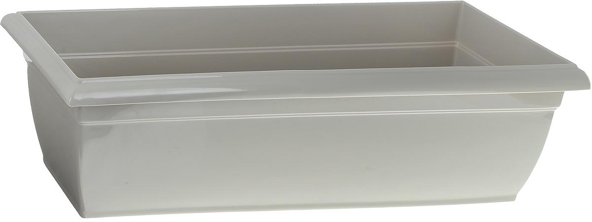 Ящик балконный Santino, цвет: песочный, 58,5 х 18 х 15 см