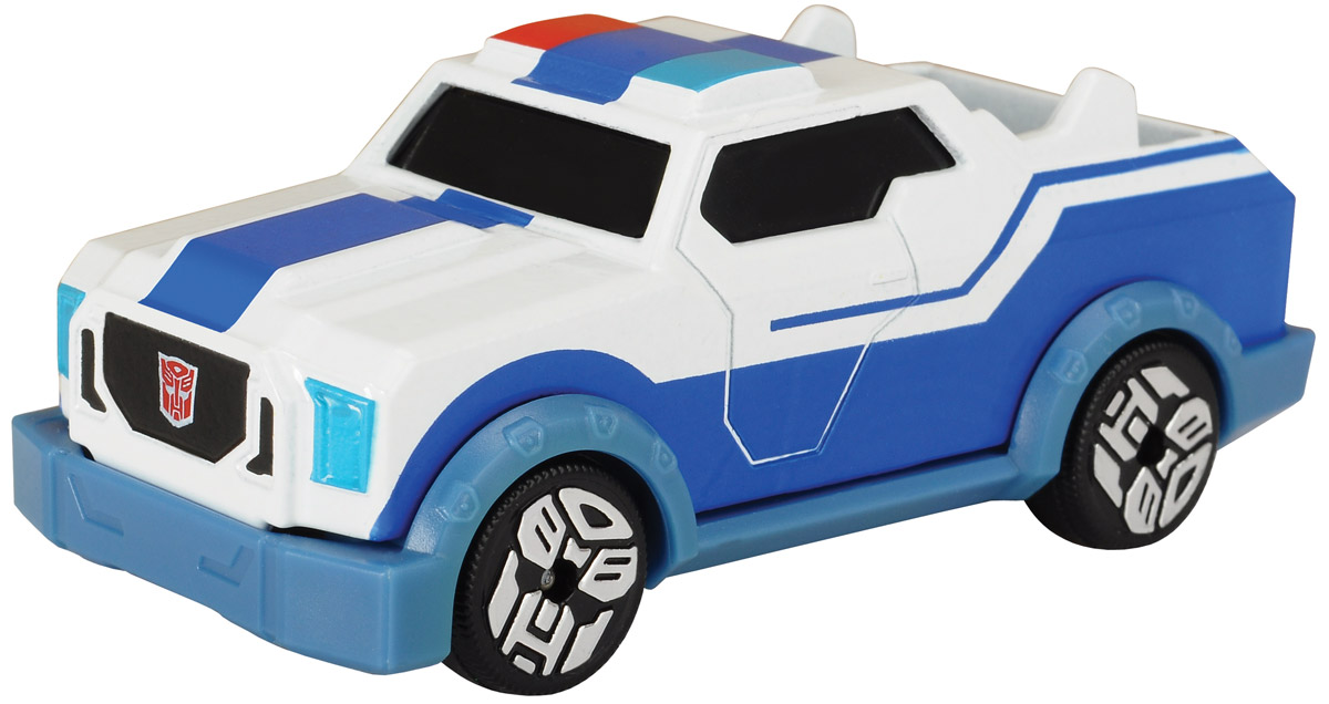 Dickie Toys Машинка Strongarm с 3D карточкой robots in disguise 1 step changers