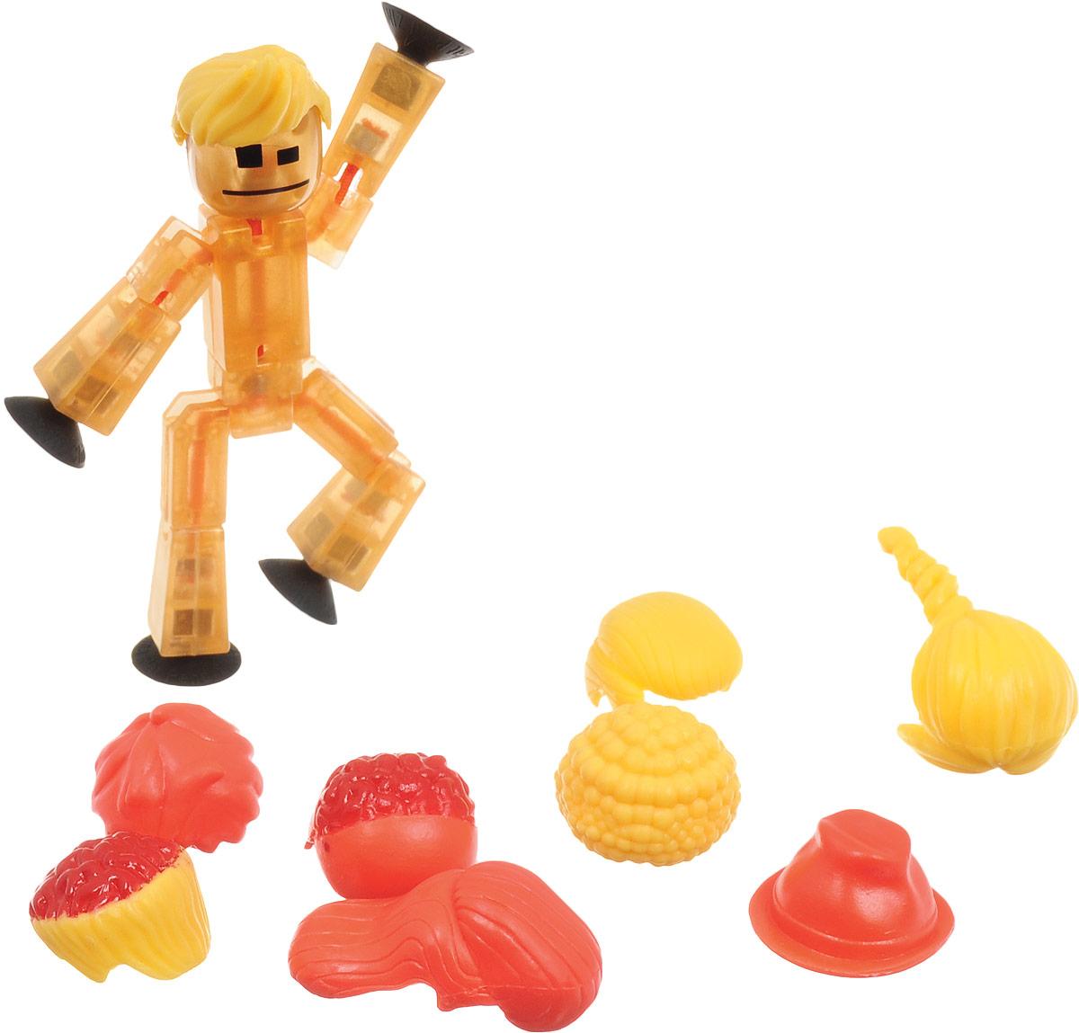 Stikbot Фигурка с аксессуарами Прически цвет золотистый коралловый желтый