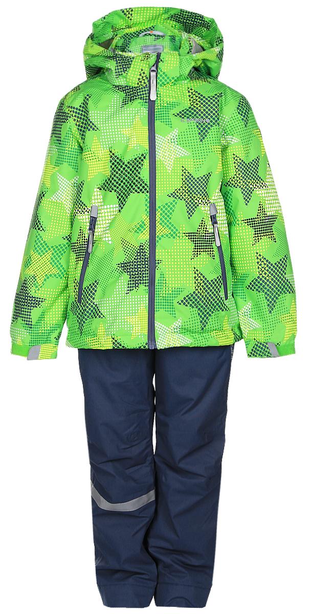 Комплект для мальчика Icepeak: куртка, полукомбинезон, цвет: зеленый, серый. 752001IVT_543. Размер 104752001IVT_543Комплект верхней детской одежды Icepeak состоит из куртки и полукомбинезона. Куртка с капюшоном и воротником-стойкой застегивается на пластиковую молнию. На рукавах предусмотрены манжеты. Спереди расположены два врезных кармана на молниях. Оформлено изделие оригинальным принтом. Брюки спереди застегиваются на пластиковую молнию и кнопку. Модель дополнена эластичными наплечными лямками, регулируемыми по длине. На талии предусмотрена широкая резинка.Утеплитель: 80 г. Водонепроницаемость: 5000 мм. Воздухопроницаемость: 2000 г/м2/24ч.