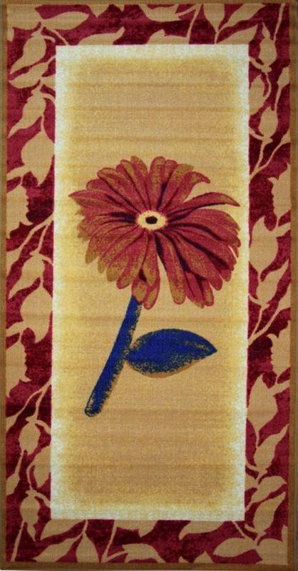 Ковер МАС Розетта. Цветок, 100 х 200 см15937/цветокВлагонепроницаемый ковер МАС Розетта. Цветок на резиновой основе подойдет для любого интерьера в гостиной, ванной или прихожей. Легко моется и чистится.Размер: 100 х 200 см.