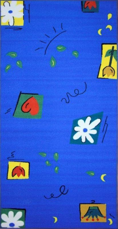 Ковер МАС Розетта, цвет: синий, 100 х 200 см15937/синийВлагонепроницаемый ковер МАС Розетта на резиновой основе подойдет для любого интерьера в гостиной, ванной или прихожей. Легко моется и чистится.Размер: 100 х 200 см