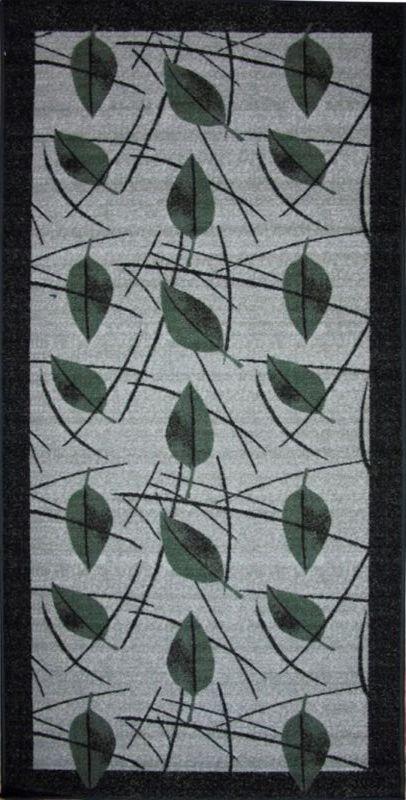"""Влагонепроницаемый ковер МАС """"Розетта.Зеленые листья"""" на резиновой основе подойдет для любого интерьера в гостиной, ванной или прихожей. Легко моется и чистится. Размер: 100 х 200 см"""