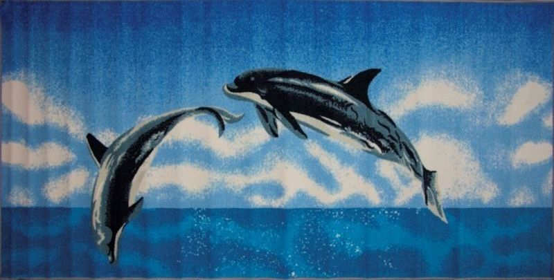 """Влагонепроницаемый ковер МАС """"Розетта. Дельфин"""" на резиновой основе подойдет для любого интерьера в гостиной, ванной или прихожей. Легко моется и чистится. Размер: 100 х 200 см"""