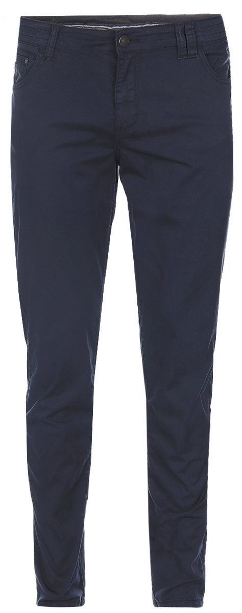 Брюки мужские Baon, цвет: темно-синий. B797016_Deep Navy. Размер XXL (54) ветровка мужская baon цвет темно синий b607028 deep navy размер xxl 54