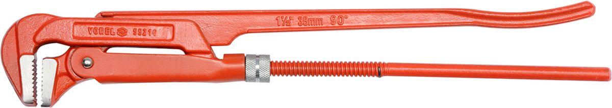 Ключ трубный Vorel, 1.5, 90 градусов55216Ключ трубный используется для монтажа и демонтажа у трубных резьбовых соединений. Ключ эффективен в работе благодаря его специальной усиленной конструкции. Специально разработанный угол наклона зубцов позволяет выполнить максимально возможное усилие захвата.