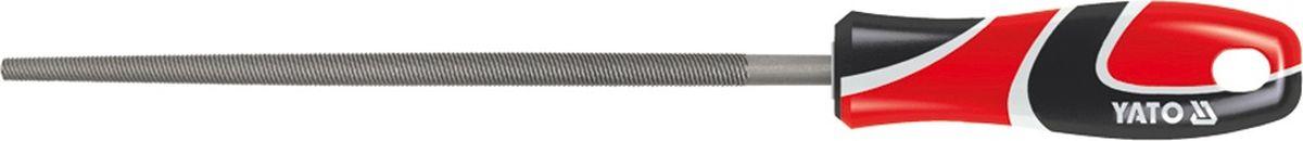 Напильник по металлу Yato, круглый, длина 20 смYT-6189Круглый напильник по металлу Yato изготовлен из металла, который на долго сохраняет остроту насечки. Напильник имеет тип насечки - личная и усиленное крепление ручки. Эргономичная двухкомпонентная рукоятка из ударопрочного пластика обеспечивает удобный и безопасный захват и предотвращает выскальзывание. Длина: 20 см.