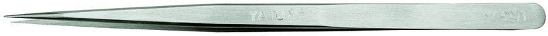 Пинцет Yato, прямой, длина 14 смYT-6903Прямой пинцет Yato - это компактный инструмент, который предназначен для тонких монтажных работ. Он выполнен из нержавеющей стали. Пинцет имеет прямую форму с особо тонкими кончиками, что позволяет легко зацепить деталь.Длина пинцета: 14 см.