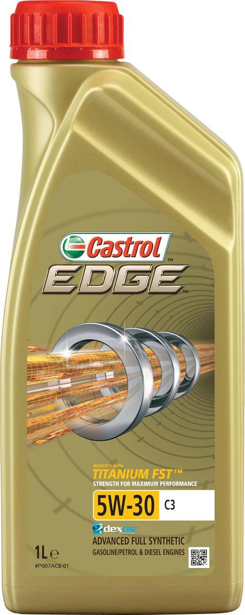 Масло моторное Castrol Edge синтетическое, класс вязкости 5W-30, C3, 1 л15A569Полностью синтетическое моторное масло Castrol Edge произведено с использованием новейшей технологии TITANIUM FST™, придающей масляной пленке дополнительную силу и прочность благодаря соединениямтитана.TITANIUM FST™ радикально меняет поведение масла в условиях экстремальных нагрузок, формируя дополнительный ударопоглощающий слой. Испытания подтвердили, что TITANIUM FST™ в 2 раза увеличивает прочность пленки, предотвращая ее разрыв и снижая трение для максимальной производительности двигателя.С Castrol Edge ваш автомобиль готов к любым испытаниям независимо от дорожных условий.Castrol Edge предназначено для использования в бензиновых и дизельных двигателях автомобилей, в которых предписаны моторные масла, соответствующие классу вязкости SAE 5W-30 и спецификациям ACEA C3, API SN или более ранним. Castrol Edge рекомендовано и одобрено для применения в автомобилях ведущих производителейтехники.Castrol Edge обеспечивает надежную и максимально эффективную работу современных высокотехнологичных двигателей, созданных по новейшим инженерным разработкам, которые работают вусловиях ужесточенных допусков производителей техники, требующих высокого уровня защиты и использования маловязких масел.Castrol Edge:- обеспечивает максимальную эффективность работы мотора как в краткосрочном периоде времени, так и в течение длительного срока службы;- подавляет образование отложений, способствуя повышению скорости реакции двигателя на нажатие педали акселератора;- поддерживает максимальную мощность мотора, даже в условиях повышенных нагрузок;- повышает КПД двигателя (подтверждено независимыми испытаниями);- обеспечивает непревзойденный уровень защиты деталей в разных условиях движения и широком диапазоне температур.Специфика:ACEA C3,API SN/CF,BMW Longlife-04,MB-Approval 229.31/ 229.51,Renault RN0700 / RN0710,VW 502 00/ 505 00/ 505 01.Товар сертифицирован.