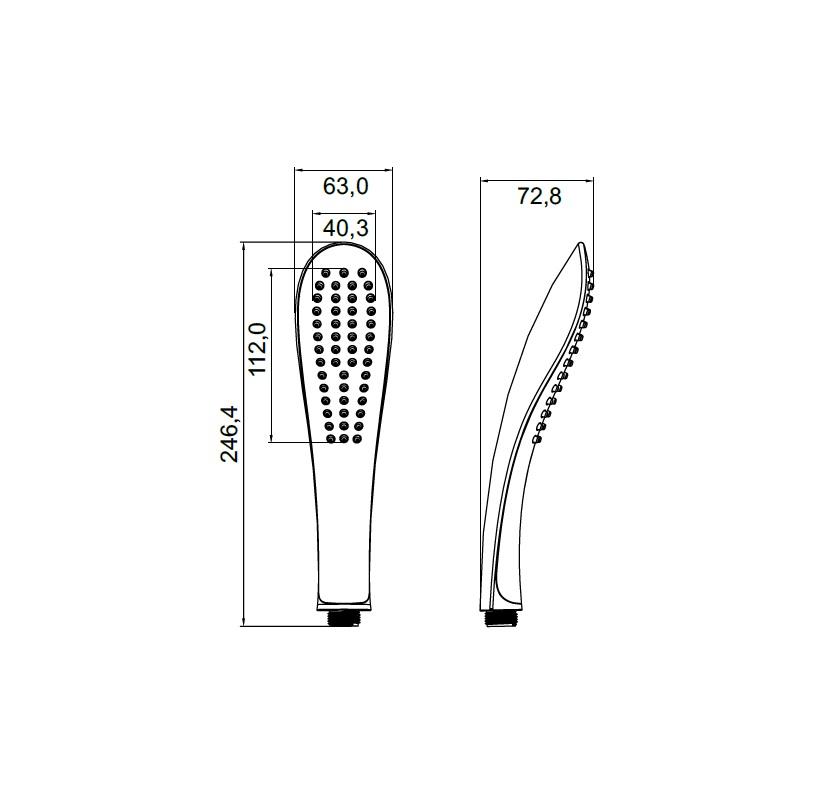 Лейка для душа Iddis изготовлена из ABS-пластика, высокопрочного и легкого материала, с надежным никель-хромовым покрытием, которое гарантирует идеальный зеркальный блеск и защиту изделия на долгий срок. В лейке предусмотрена система легкой очистки Easy Clean, которая позволяет убрать известковый налет с форсунок одним движением пальца.Размер лейки: 246,4 х 63 мм.